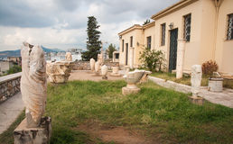 Ancient Greek ruins at the archaeological place of Ancient Elevs Stock Image