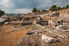 Ancient Greek ruins at the archaeological place of Ancient Elevs Royalty Free Stock Images