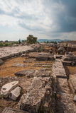 Ancient Greek ruins at the archaeological place of Ancient Elevs Royalty Free Stock Photo