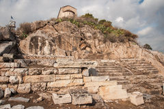 Ancient Greek ruins at the archaeological place of Ancient Elevs Royalty Free Stock Photography