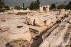 Ancient Greek ruins at the archaeological place of Ancient Elevs Royalty Free Stock Image