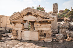Ancient Greek ruins at the archaeological place of Ancient Elevs Stock Photo