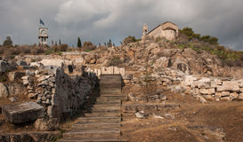 Ancient Greek ruins at the archaeological place of Ancient Elevs Stock Photography