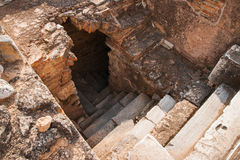 Ancient Greek ruins at the archaeological place of Ancient Elevs Royalty Free Stock Photos