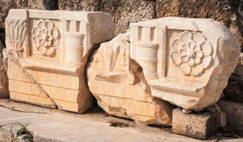 Ancient Greek ruins at the archaeological place of Ancient Elevs Stock Photos