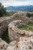 Ancient Greek ruins at the archaeological place at Sparta,  Gree Royalty Free Stock Photos