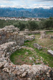 Ancient Greek ruins at the archaeological place at Sparta,  Gree Stock Photography