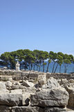 Ancient greek ruins in Empuries Royalty Free Stock Images