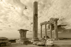 Ancient Greek ruins in the Turkish city Side Royalty Free Stock Photo
