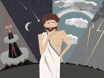 Ancient greek scientist thinking about natral phenomena vector c Stock Photo