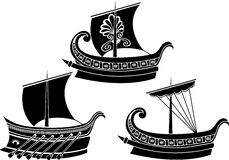 Ancient Greek ship Royalty Free Stock Photography