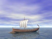 Ancient Greek Ship Stock Photo