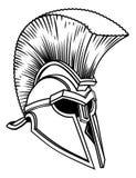 Spartan Trojan Roman Gladiator Helmet stock illustration