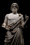 Ancient greek statue. Of Asclepios (the greek God of medicine). Also known as Esculapio, which is the roman name Stock Photography