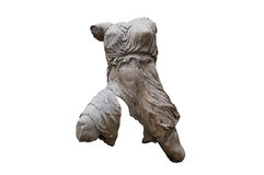 Ancient greek statue from the Parthenon. Greek headless female figure sculpted in white marble  with clipping path Royalty Free Stock Photos