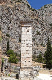 Ancient greek stele found at Delphi Stock Images