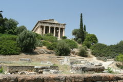 Ancient Greek Temple Royalty Free Stock Images