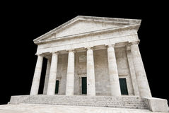Ancient Greek temple. Isolated on black Stock Images