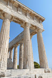 Ancient Greek temple at Aegina, Greece Stock Photos