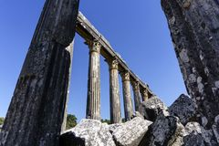 Roman ancient details in turkey anatolia. Ancient Greek Temple At Anatolia Royalty Free Stock Photography