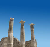 Ancient Greek temple columns Royalty Free Stock Photography