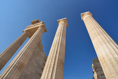 Ancient Greek temple columns Stock Photo