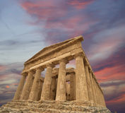 Ancient Greek temple of Concordia, Sicily Royalty Free Stock Photo