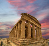 Ancient Greek temple of Concordia (V-VI century BC), Valley of the Temples, Agrigento, Sicily Royalty Free Stock Photo