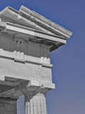 Ancient Greek temple detail, Acropolis of Athens Royalty Free Stock Images