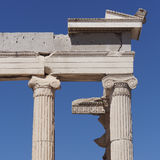 Ancient Greek temple detail Stock Photo