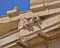 Ancient greek temple detail, horse head Royalty Free Stock Photo
