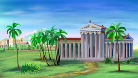 Ancient Greek Temple Royalty Free Stock Photo