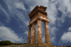 Ancient Greek Temple of the Dioscuri Royalty Free Stock Photography