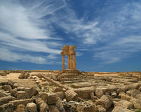 Ancient Greek Temple of the Dioscuri, Sicily Stock Image