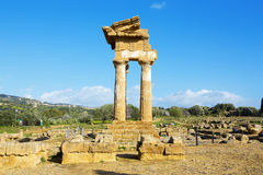 Ancient Greek Temple of the Dioscuri Stock Photography