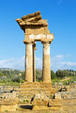 Ancient Greek Temple of the Dioscuri Stock Photos