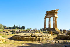 Ancient Greek Temple of the Dioscuri Royalty Free Stock Images