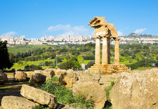 Ancient Greek Temple of the Dioscuri Royalty Free Stock Image
