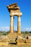 Ancient Greek Temple of the Dioscuri Royalty Free Stock Photo