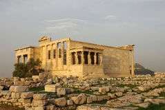 Ancient Greek Temple Erehteion Royalty Free Stock Image