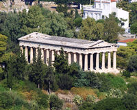 Ancient Greek temple of Hephaestus Stock Photos