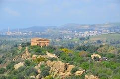 Ancient Greek Temple of Juno God, Agrigento, Sicily, Italy. The Ancient Greek Temple of Juno God, Agrigento, Sicily, Italy royalty free stock image