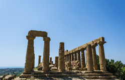 Ancient Greek Temple of Juno God, Agrigento, Sicily, Italy Stock Image