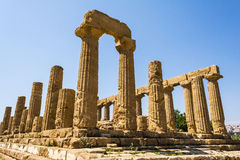 Ancient Greek Temple of Juno God, Agrigento, Sicily, Italy Royalty Free Stock Photo