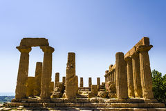 Ancient Greek Temple of Juno God, Agrigento, Sicily, Italy Stock Photography
