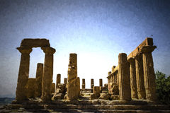 Ancient Greek Temple of Juno God, Agrigento, Sicily, Italy Royalty Free Stock Image