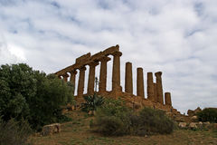 Ancient Greek Temple of Juno, Valley of the Temples, Agrigento, Sicily Stock Image
