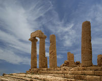 Ancient Greek Temple of Juno, Valley of the Temples, Agrigento, Sicily Royalty Free Stock Photography