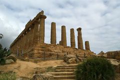 Ancient Greek Temple of Juno, Valley of the Temples, Agrigento, Sicily Royalty Free Stock Images