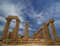 Ancient Greek Temple of Juno, Valley of the Temples, Agrigento, Sicily Royalty Free Stock Photo